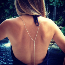 Rock Your Body Chain, Cubic Zirconia Body Chain, Sterling Silver Body Chain