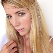 Summer Nights Head Chain, Moonstone Head Chain, Boho, Bridal